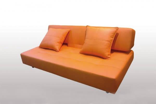 Фото дивана (мебели) в мебельной ткани Микровелюр (Велюр) Мебельери - Mebelliery Ecotex-Orange