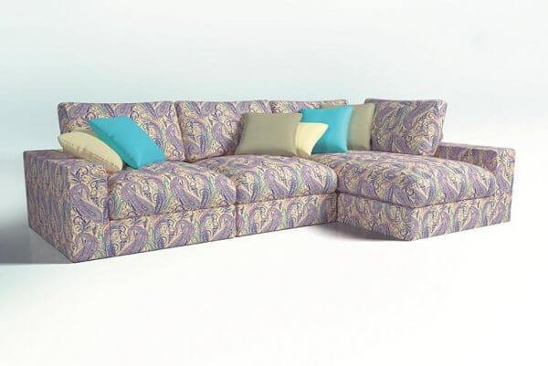 Фото дивана (мебели) в мебельной ткани Микровелюр (Велюр) Мебельери - Mebelliery Liberty-col.-4