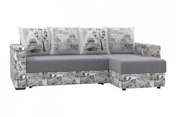Фото дивана (мебели) в ткани Микровелюр (Велюр) Союз-М - PetersburgPillow 01B + Petersburg 01