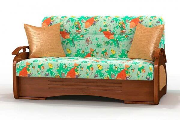 Фото дивана (мебели) в мебельной ткани Микровелюр (Велюр) Союз-М - Aqua 02