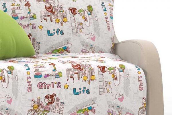 Фото дивана (мебели) в ткани Микровелюр (Велюр) Союз-М - GirlsLife 01