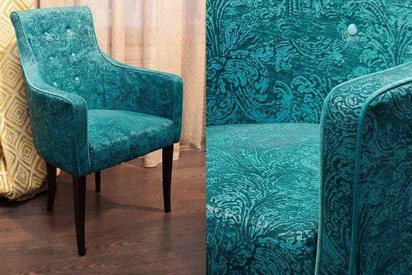 Фото дивана (мебели) в мебельной ткани Микровелюр (Велюр) Мебельери - Mebelliery Debut-col. 06