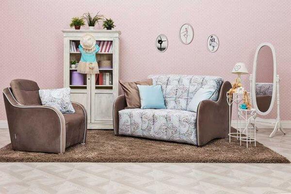 Фото дивана (мебели) в мебельной ткани Микровелюр (Велюр) Мебельери - Mebelliery Liberty-col.-02