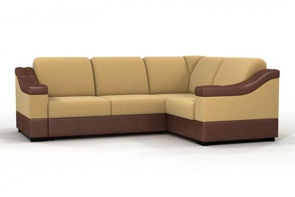 Фото дивана (мебели) в ткани Вельвет Союз-М - LaTerra-50 + Ecotex-Brown