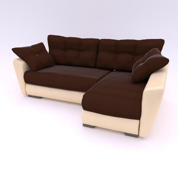 Бесплатная доставка, оплата по факту, гарантия 18 месяцев. Купите в Москве современный и надежный угловой диван «Амстердам» Еврокнижку со скидкой 30% Угловой диван Амстердам Neo - 17 990р | жаккард + экокожа