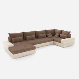 Бесплатная доставка, оплата при получении, гарантия от производителя, любой размер и цвет. Успейте купить большой П-образный диван Ариети недорого от производителя!