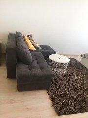 Угловой диван трансформер Оливер фотография вид с боку в велюре Цитус