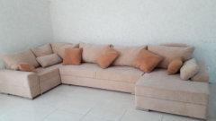 Фотография дивана Ариети во флоке в интерьере