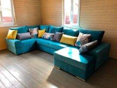 Угловой п образный диван Ариети (Каро) фотография в интерьере