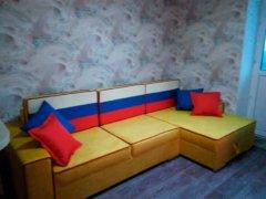 Угловой диван Ричмонд с кантом фото в интерьере