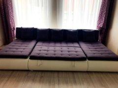 Модульный диван Кормак в разложенном виде интерьере фото