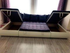 Модульный диван Кормак в разложенном виде с ящиками