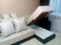 Отсек для белья у углового дивана Дубай