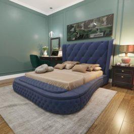 Бесплатная доставка, оплата при получении, любой размер и цвет. Успейте купить недорого кровать с каретной стяжкой Монтана от производителя в Москве